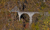 Arched stone bridge in the Valle Onsernone in Ticino, Southern Switzerland.