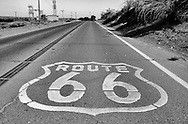 Route 66 near Oro Grande, California. .A trip through parts of Route 66 from Southern California to Arizona. Route 66 in America.