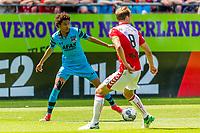 UTRECHT - 28-05-2017, FC Utrecht - AZ, Stadion Galgenwaard, AZ speler Calvin Stengs, FC Utrecht speler Willem Janssen