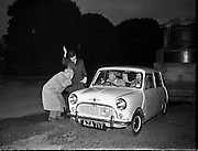 Mini Minor leaves Phoenix Park for 100 mile circuit 09/12/1959<br />