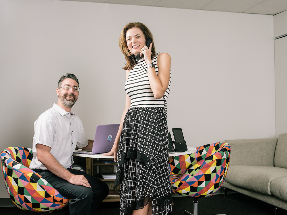 Todd and Laure Fisher, husband and wife team and owners of CallTrackingMetrics at their office in Severn, Md. on July 12, 2016.