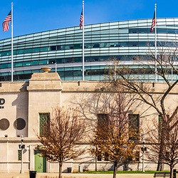 Chicago Bears Soldier Field stadium panorama photo. Soldier Field is home to the Chicago Bears NFL football team. Panoramic photo ratio is 1:3. Copyright ⓒ 2015 Paul Velgos with All Rights Reserved.