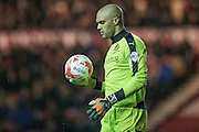 Carl Ikeme (Wolverhampton Wanderers) during the Sky Bet Championship match between Middlesbrough and Wolverhampton Wanderers at the Riverside Stadium, Middlesbrough, England on 4 March 2016. Photo by Mark P Doherty.