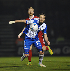 Bristol Rovers' Andy Monkhouse gives chase to the loose ball - Photo mandatory by-line: Dougie Allward/JMP - Mobile: 07966 386802 - 20/03/2015 - SPORT - Football - England - Memorial Stadium - Bristol Rovers v Aldershot - Vanarama Football Conference