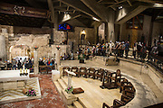 Israel, Nazareth, interior of the Basilica of the Annunciation, the grotto