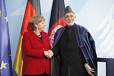 President Karzai and Chancellor Angela Merkel