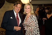 BARRY HUMPHRIES AND ABI TITMUSS, The Galaxy British Book Awards hosted by Richard Madeley and Judy Finigan. Grosvenor House. Park Lane. London. 9 April 2008. *** Local Caption *** -DO NOT ARCHIVE-© Copyright Photograph by Dafydd Jones. 248 Clapham Rd. London SW9 0PZ. Tel 0207 820 0771. www.dafjones.com.