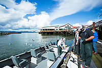 Salmon fishing Astoria, Oregon.