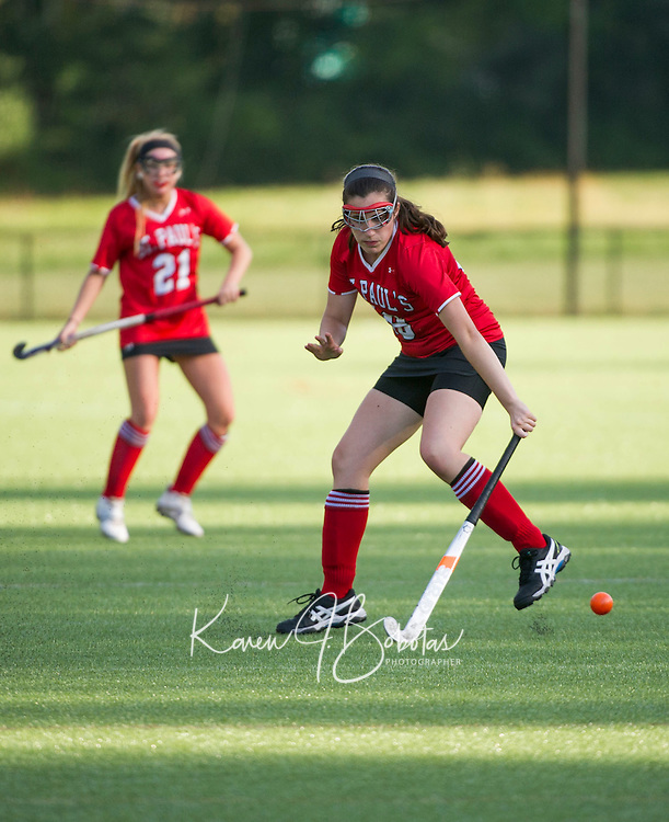 St Paul's School Field Hockey versus Rivers.  ©2015 Karen Bobotas Photographer