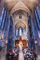 The Gothic architecture of Heinz Chapel in Oakland, PA sets the stage for a romantic wedding ceremony.