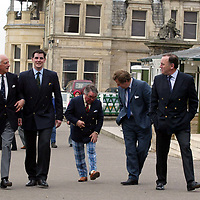 Ronnie Corbett, who officially opened the Golf St Andrews shop, a joint venture between the House of Bruar and the R&A, pictured with from left, Graeme Simmers, Capatin of the R&A, Patrick Birkbeck, House of Bruar MD, James Sugden of Johnstons of Elgin and ????<br />