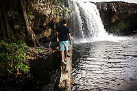 The Teuk Vet Waterfall near the community-based ecotourism village of Chi Phat, in the Southern Cardomoms Protected Forests in the Koh Kong Province, Cambodia, on Thursday, Dec. 2, 2010. The Chi Phat Ecotourism Village center helps arrange treks while seeing daily village life.