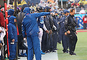 Jan 27, 2019; Orlando, FL, USA; NFC head coach Jason Garrett of the Dallas Cowboys smiles during the NFL Pro Bowl football game at Camping World Stadium.  The AFC beat the NFC 26-7. (Steve Jacobson/Image of Sport)
