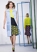 UNITED KINGDOM, London: 19 September 2015 Models present creations by designer Holly Fulton during London Women's fashion week in London, England. Pic by Andrew Cowie / Story Picture Agency