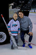 KELOWNA, CANADA - JANUARY 07:  Connor Morcom with Connor Ingram at the Kelowna Rockets game on January 07, 2017 at Prospera Place in Kelowna, British Columbia, Canada.  (Photo By Cindy Rogers/Nyasa Photography,  *** Local Caption ***