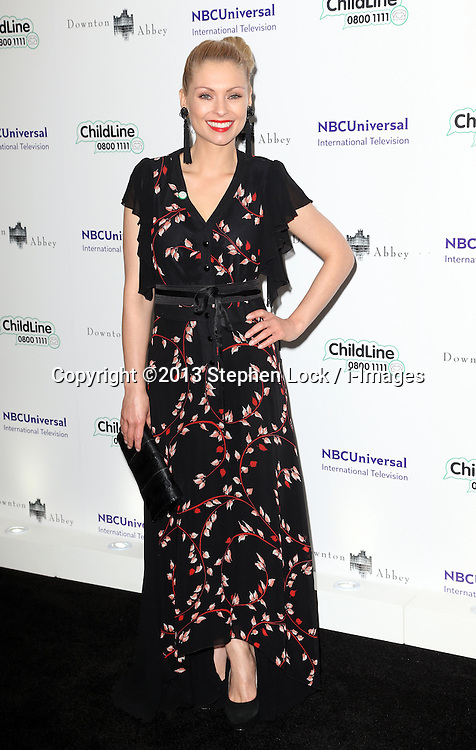 MyAnna Buring  arriving at the Downton Abbey ChildLine Ball in London, Thursday, 24th October 2013. Picture by Stephen Lock / i-Images