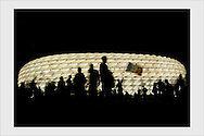 Munich stadium, after the Portugal - France match. World Cup. Munich, July 5, 2006.