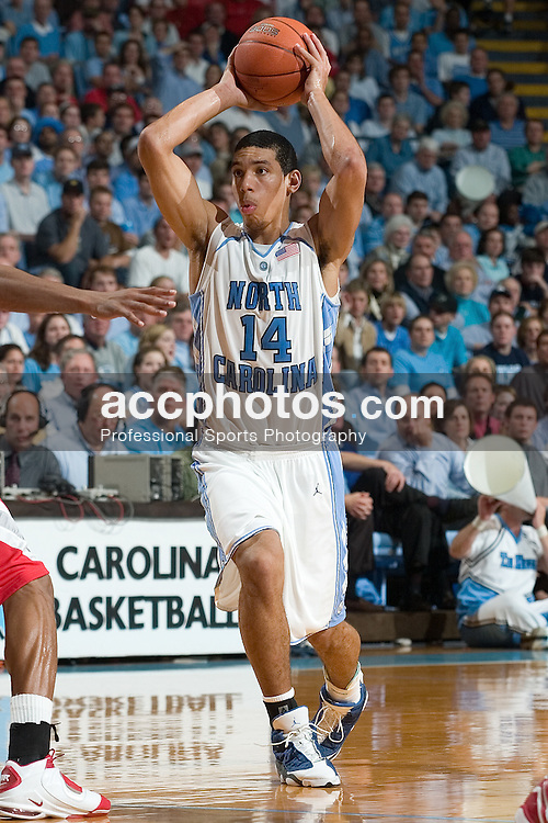 29 November 2006: Tar Heel forward (14) Danny Green during a 98-89 North Carolina Tar Heels victory over the Ohio State Buckeyes, in the Dean Smith Center in Chapel Hill, NC.<br />