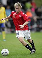 Fotball<br /> Landskamp G15<br /> Sverige v Norge 0:3<br /> Arvika<br /> 23.09.2010<br /> Foto: Morten Olsen, Digitalsport<br /> <br /> Herman Sørby Stengel  -  Stabæk