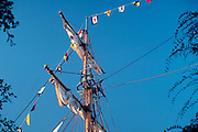 Tall Ship, Schooner, Main Mast, Disneyland, Ca, USA