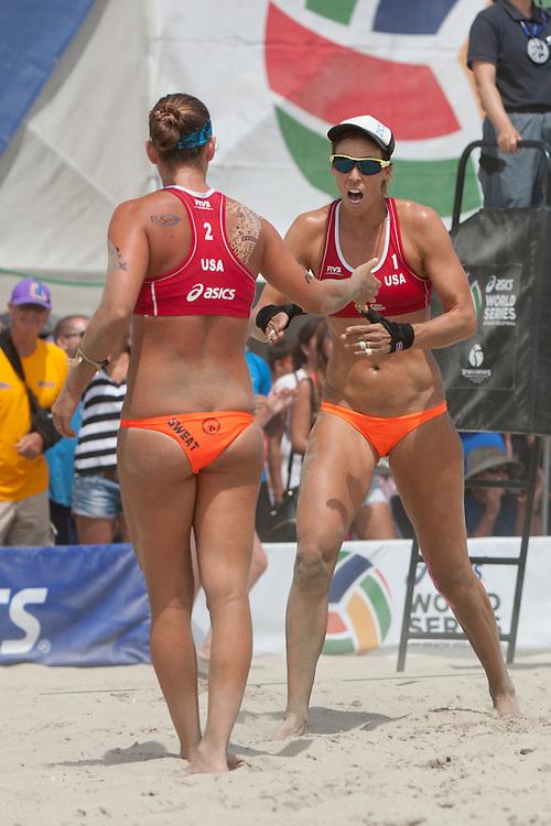 FIVB Long Beach, CA - 2014 07.  Lauren Fendrick. Photo by Wally Nell