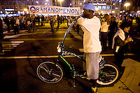 Barack Obama supporters fill the streets as supporters take to Chicago's Grant Park for the election night results for the presidential race between Sen. Barak Obama (D-IL) and Sen. John McCain (R-AZ) Tuesday Nov. 4, 2008 Chicago IL.