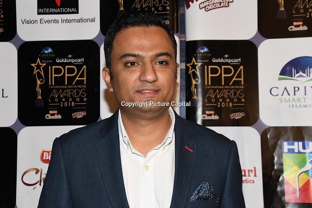 Celebrities arrives at the Annual International Pakistan Prestige Awards (IPPA) at Indigo at The O2 on 9th September 2018, London, UK