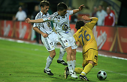Zoran Zeljkovic (14) of Interblock vs Danijel Brezic  (76) of Domzale at Slovenian Supercup between NK Domzale and NK Interblock, on July 9, 2008, in Domzale. Interblock won the mach and Supercup 7:6 after penalty shots.. (Photo by Vid Ponikvar / Sportal Images)