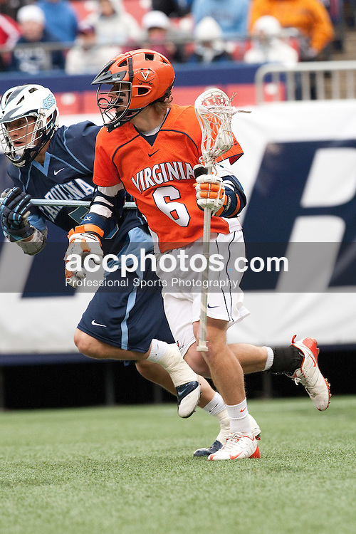 04 April 2009: Virginia Cavaliers attackman Steele Stanwick (6) during a 11-10 win over then North Carolina Tar Heels at Giants Stadium in East Rutherford, NJ.