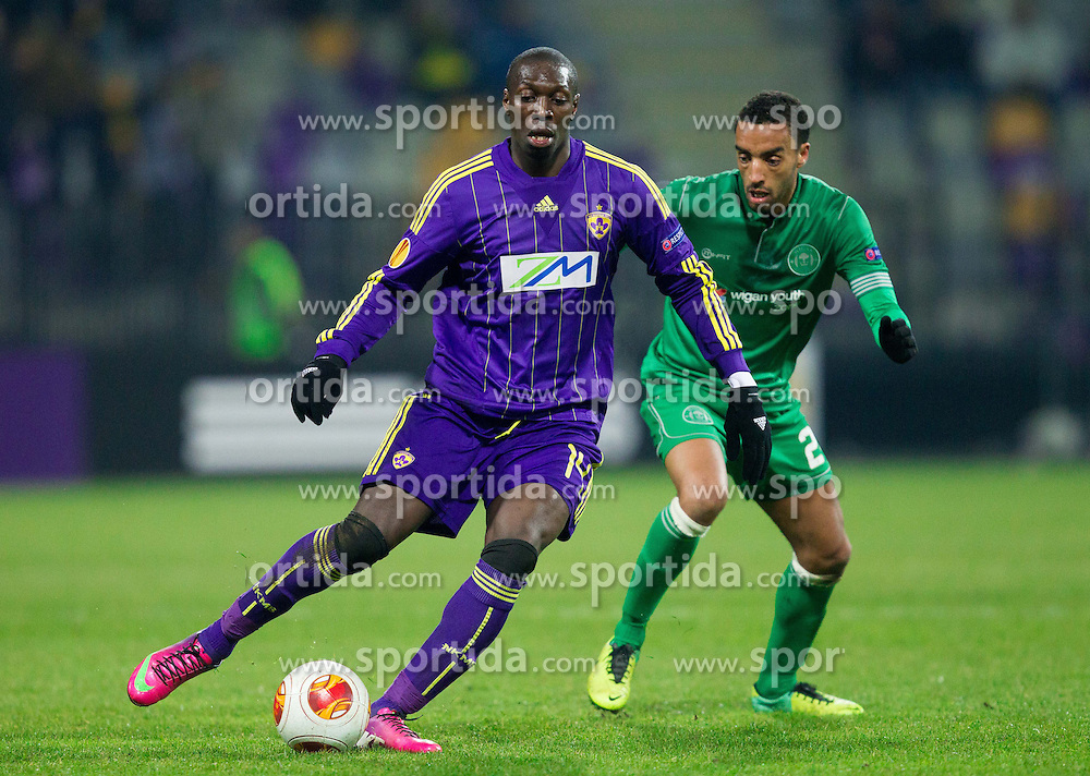 Jean Philippe Mendy #14 of Maribor during football match between NK Maribor and Wigan Athletic FC (ENG) in Round 6 of Group D of UEFA Europa League 2014, on December 12, 2013 in Stadion Ljudski vrt, Maribor, Slovenia. Maribor won against Wigan 2-1 and qualified to next Stage. Photo by Vid Ponikvar / Sportida
