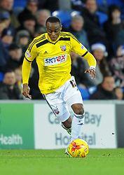Brentford's Moses Odubajo in action against Cardiff City - Photo mandatory by-line: Paul Knight/JMP - Mobile: 07966 386802 - 20/12/2014 - SPORT - Football - Cardiff - Cardiff City Stadium - Cardiff City v Brentford - Sky Bet Championship