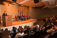 Goshen, New York - Orange County Executive Steven M. Neuhaus served as the keynote speaker at a Naturalization ceremony at the county Emergency Services Center on Nov. 17, 2016. A total of 86 people from 45 countries took the Oath of Allegiance and became citizens of the United States of America.