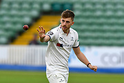 Ben Coad of Yorkshire during the third day of the Specsavers County Champ Div 1 match between Somerset County Cricket Club and Yorkshire County Cricket Club at the Cooper Associates County Ground, Taunton, United Kingdom on 29 April 2018. Picture by Graham Hunt.