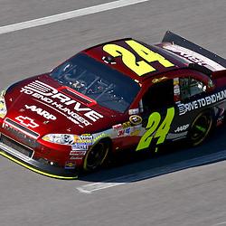 April 17, 2011; Talladega, AL, USA; NASCAR Sprint Cup Series driver Jeff Gordon (24) during the Aarons 499 at Talladega Superspeedway.   Mandatory Credit: Derick E. Hingle