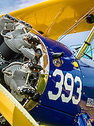 Engine detail of a Boeing PT-17D Stearman.<br />
