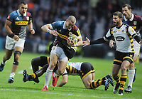 Rugby Union - 2016 / 2017 Aviva Premiership - Harlequins vs. Wasps<br /> <br /> Mike Brown of Quins breaks free on Willie Le Roux of Wasps (right) at The Stoop.<br /> <br /> COLORSPORT/ANDREW COWIE