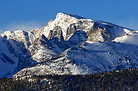 Taylor Peak and the Sharkstooth during March in RMNP, Colorado