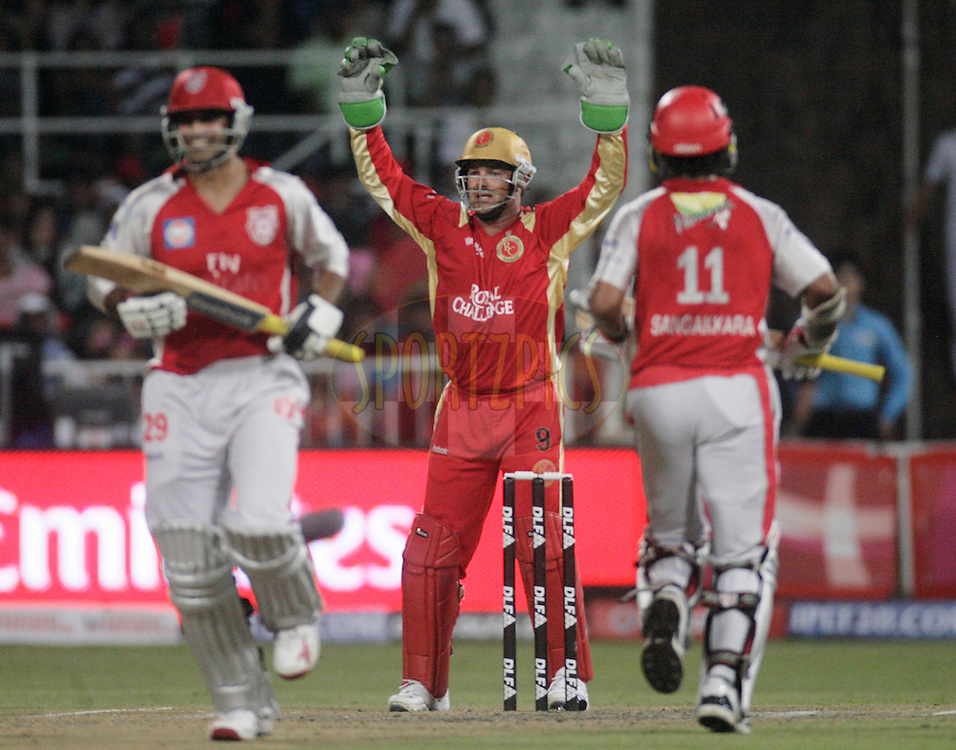 DURBAN, SOUTH AFRICA - 1 May 2009. Mark Boucher appeals for Irfan Pathans wicket during the IPL Season 2 match between Kings X1 Punjab and the Royal Challengers Bangalore held at Sahara Stadium Kingsmead, Durban, South Africa.