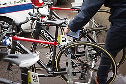 UCI personel checks Cervélo-Bigla Cycling Team bikes for electronic motors before the Aviva Women's Tour 2016 - Stage 2. A 140.8 km road race from Atherstone to Stratford upon Avon, UK on June 16th 2016.