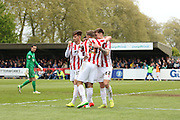 Has Darrell Berry just scored Cheltenham's last goal in the Football League? during the Sky Bet League 2 match between AFC Wimbledon and Cheltenham Town at the Cherry Red Records Stadium, Kingston, England on 2 May 2015. Photo by Stuart Butcher.