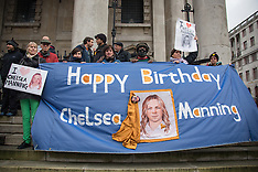 17 Dec. 2014 - Birthday vigil for imprisoned Chelsea Manning at St.Martin in the Fields London.