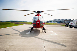 Pictured:  <br /> Deputy First Minister and local MSP  John Swinney visited Perth Airport today to visit Scotland's Charity Air Ambulance. The Perthshire North MSP will meet volunteers and present certificates to mark the start of National Volunteers' Week.<br /> <br /> <br /> Ger Harley | EEm 1 June 2018