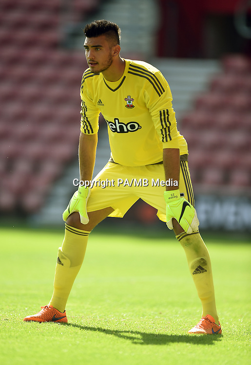 Southampton's Paulo Gazzaniga during the Pre-Season Friendly match at St Mary's Stadium, Southampton.