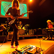 """WASHINGTON, DC - February 14th  2013 - Nick Allbrook, Kevin Parker, Julien Barbagallo and Jay Watson of Tame Impala perform at the 9:30 Club in Washington, D.C.  The band's sophomore album, """"Lonerism,"""" was released in October of 2012 and won numerous album of the year awards across the globe, including NME, Rolling Stone and Australia's Triple J radio. (Photo by Kyle Gustafson/For The Washington Post)"""