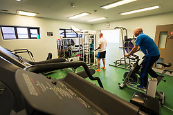Exercise at Kingswood Centre, a secure centre for people with mental health issues for assessment and/or treatment who may have come into contact with the Criminal Justice System,  London Borough of Enfield, Barnet, Enfield & Haringey Mental Health Trust, London UK