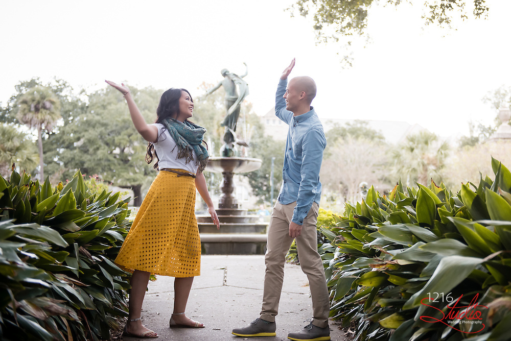 Jhon & Lizzy Engagement Photography Samples | Audubon Park and the French Quarter | 1216 Studio Wedding Photography