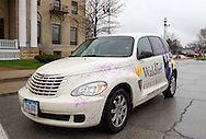 A Waldorf College car outside Waldorf College in Forest City, Iowa on Saturday, May 14, 2011.