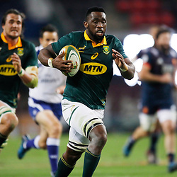Siya Kolisi of South Africa during the 2nd Castle Lager Incoming Series Test match between South Africa and France at Growthpoint Kings Park on June 17, 2017 in Durban, South Africa. (Photo by Steve Haag Sports)