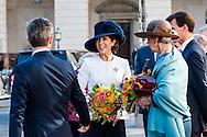 04.10.2016. Copenhagen, Denmark.  <br /> Crown Prince Frederik, Crown Princess Mary, Princess Benedikte, Princess Marie, Prince Joachim leaves the parliament in Christiansborg Palace.<br /> Photo: &copy; Ricardo Ramirez