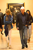 Richard Gere with Alejandra Silva in Prado Museum